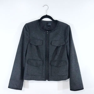 [The Limited] Collarless Lined Pocket Jacket